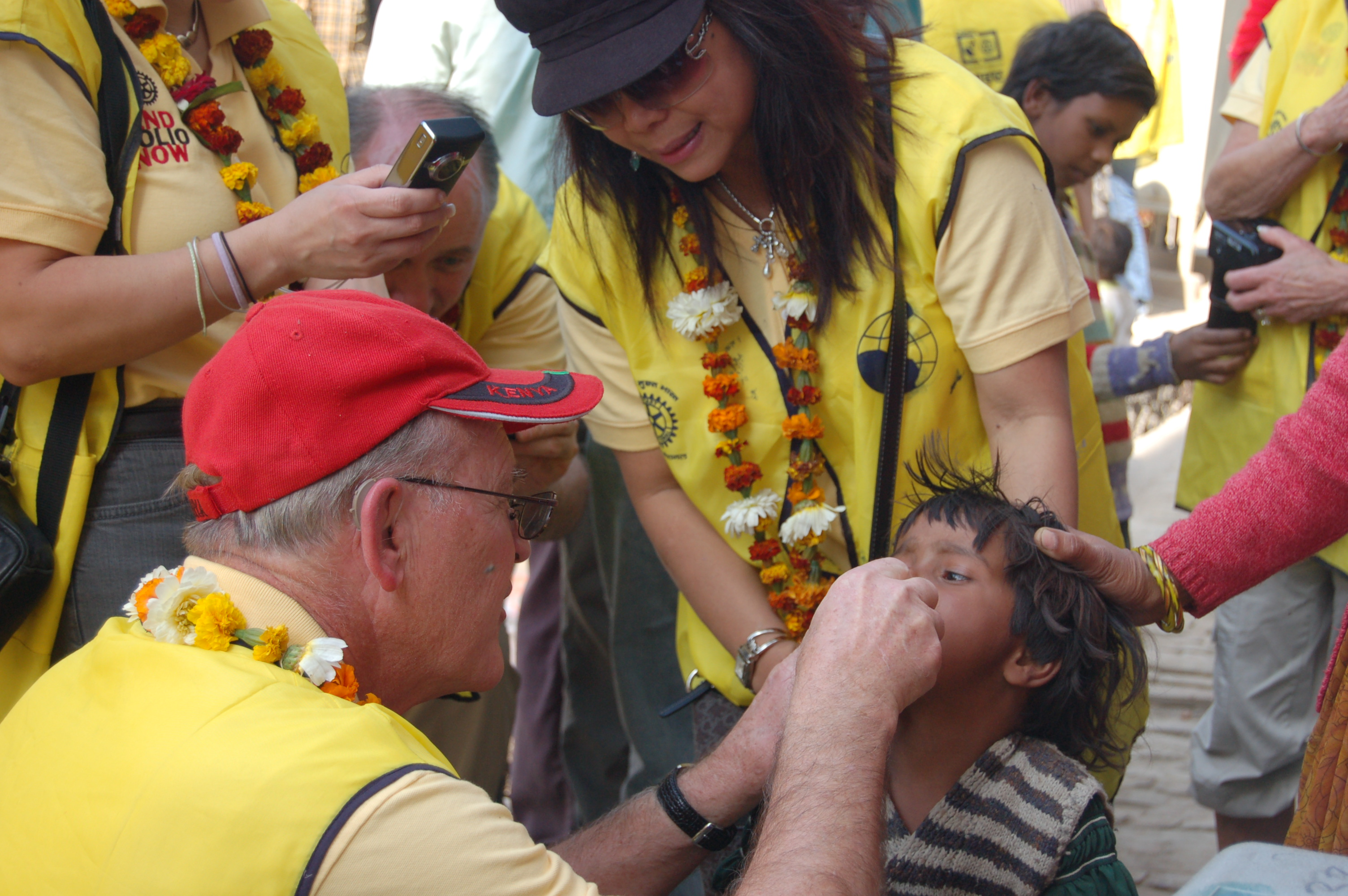 Sugar House Rotary Member, Larry Wright traveled to India to aid in vaccinating children from Polio